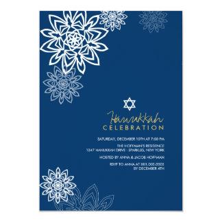 Winter Snowflakes Hanukkah Celebration Party Invit 13 Cm X 18 Cm Invitation Card