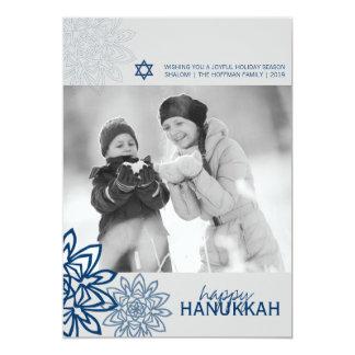 Winter Snowflakes Hanukkah Holiday Photo Greetings 13 Cm X 18 Cm Invitation Card