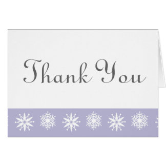 Winter Snowflakes in Lavender Thank You Card