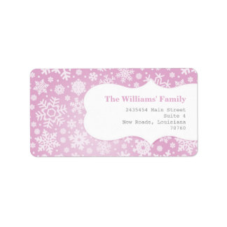 Winter Snowflakes Label