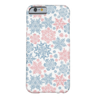Winter Snowflakes Pattern Barely There iPhone 6 Case