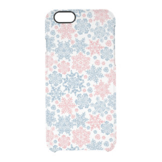 Winter Snowflakes Pattern Clear iPhone 6/6S Case