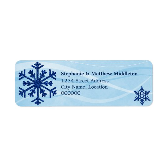 Winter Snowflakes Return Address Labels
