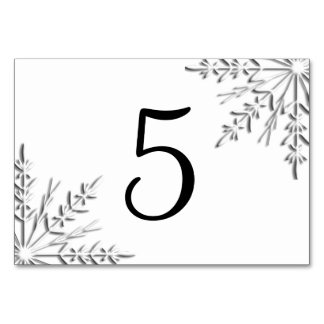 Winter Snowflakes Table Numbers