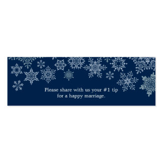 Winter Snowflakes Wedding Questionnaire Business Card Template