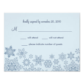 Winter Snowflakes Wedding RSVP Card