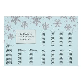 Winter Snowflakes Wedding Seating Chart Poster