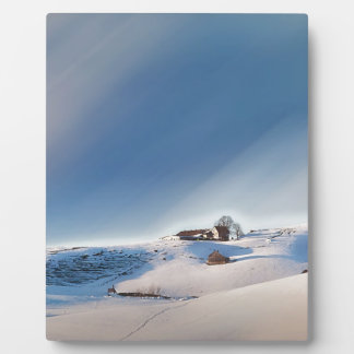 winter snowing landscape plaque