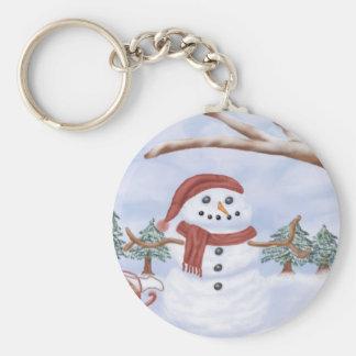 Winter Snowman Key Chain