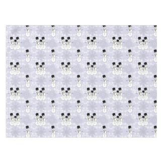 Winter Snowman Pattern Tablecloth