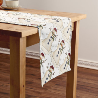 Winter Snowmen Short Table Runner