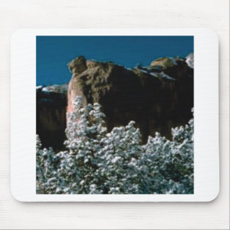 winter snows in the desert mouse pad