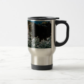 winter snows in the desert travel mug