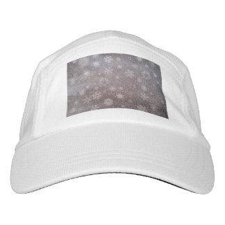 Winter snowy dark day background - 3D render Hat