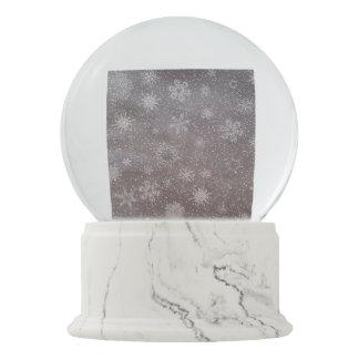 Winter snowy dark day background - 3D render Snow Globes