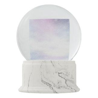 Winter snowy day background - 3D render Snow Globe