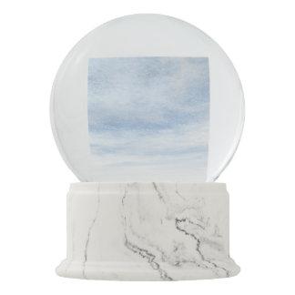 Winter snowy day background - 3D render Snow Globes