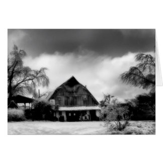 Winter Snowy Winery Holiday Card 5x7