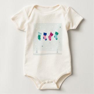 WINTER SOCKS handdrawn Illustrated edition Baby Bodysuit