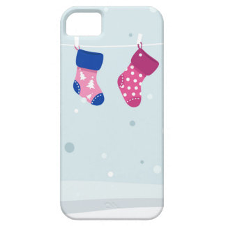 WINTER SOCKS handdrawn Illustrated edition Barely There iPhone 5 Case