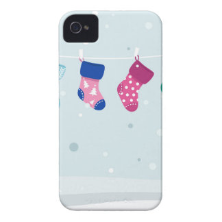 WINTER SOCKS handdrawn Illustrated edition iPhone 4 Cover