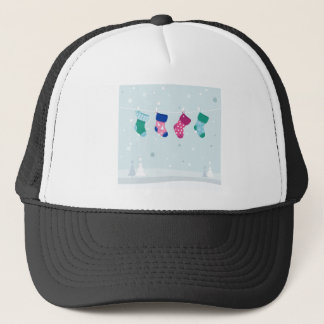 WINTER SOCKS handdrawn Illustrated edition Trucker Hat