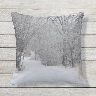 Winter Solitude Outdoor Cushion