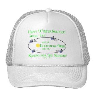 Winter Solstice Axial Tilt Trucker Hats