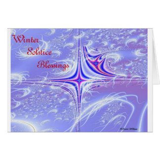 Winter Solstice Blessings Greeting Card