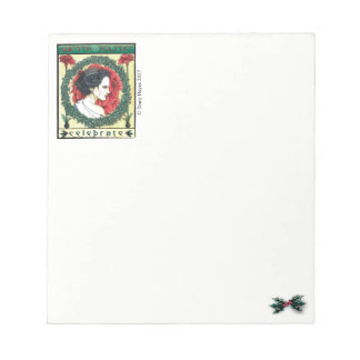 Winter Solstice Christmas holiday notepad
