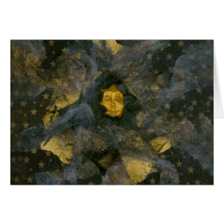 Winter Solstice Eve - collage Greeting Card