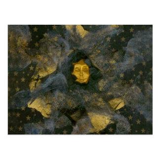 Winter Solstice Eve - collage Postcard