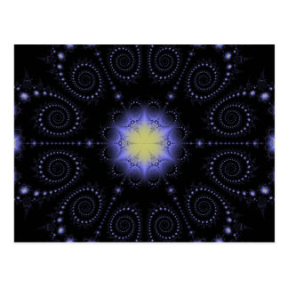 Winter Solstice Fractal Postcard