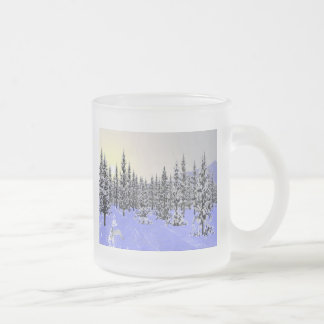 Winter Solstice Frosted Glass Mug