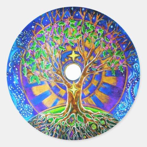 Winter Solstice Full Moon Mandala Sticker