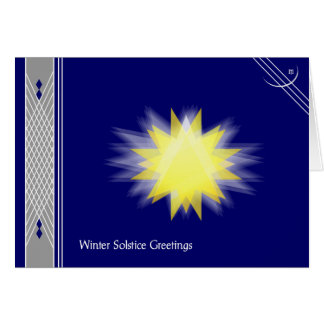Winter Solstice II - with your text Greeting Card