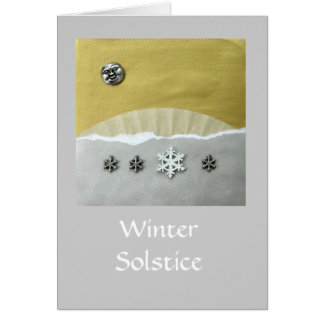 Winter Solstice Morning - collage Greeting Card