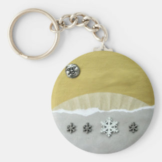 Winter Solstice Morning - collage Key Chains
