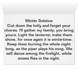Winter Solstice Poe, Greeting Card