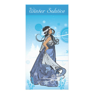 Winter Solstice Queen Photo Greeting Card