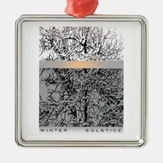 Winter solstice Silver-Colored square decoration