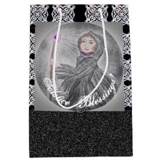 Winter Solstice Snow Maker Witch Pagan Medium Gift Bag