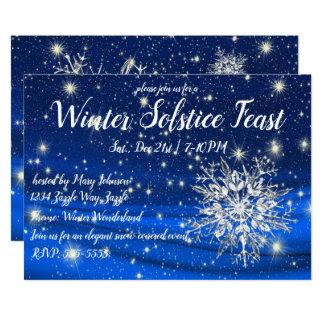 Winter Solstice Snowflake Card
