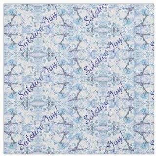 Winter Solstice Yule Christmas Snow Fabric