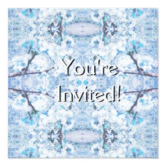 Winter Solstice Yule Snow Christmas 13 Cm X 13 Cm Square Invitation Card