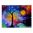 Winter Sparkle Circle of Life MADART Painting Postcard