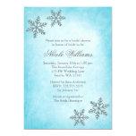 Winter Sparkle Snowflakes Teal Bridal Shower Custom Invite