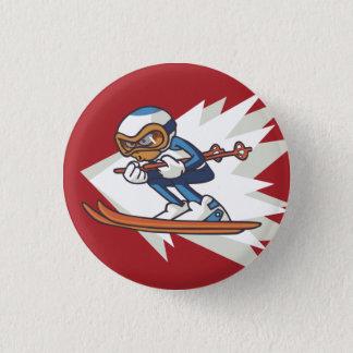 Winter Sports Alpine Skiing Flair Button
