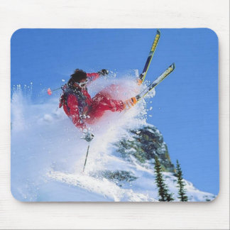 Winter sports, extreme ekiing mouse pad