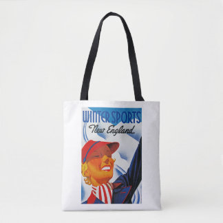 Winter Sports New England Tote Bag
